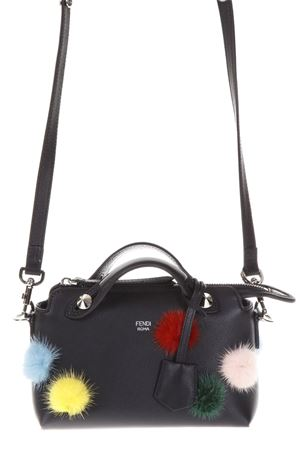MINI BY THE WAY BAG WITH MULTICOLOR FUR PONPOM FW 2017 FENDI | 2 | 8BL1358E5F0X93