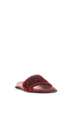 LEATHER SANDAL FLAT FW 2017 FENDI | 87 | 8X6638A0ISF10GL