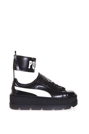 ANKLE STRAP LEATHER SNEAKERS FW 2017 FENTY X PUMA | 55 | 36626403ANKLEBLACK