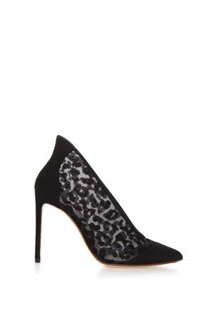 LEOPARD VELVET AND SUEDE DECOLLETE FW17 FRANCESCO RUSSO | 52 | RIP300118NERO