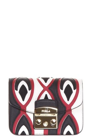 METROPOLIS COLOR BLOCK LEATHER BAG FW 2017 FURLA | 2 | 908136METROPOLISONYX/RUBY/PETALO