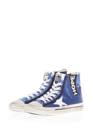 GLITTER LEATHER HIGH-TOP SNEAKERS FW 2017 GOLDEN GOOSE DELUXE BRAND | 55 | G31WS6381N1