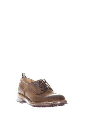 AGED CALF LEATHER DERBY SHOES FW 2017 GREEN GEORGE | 208 | 0002LIGHT137
