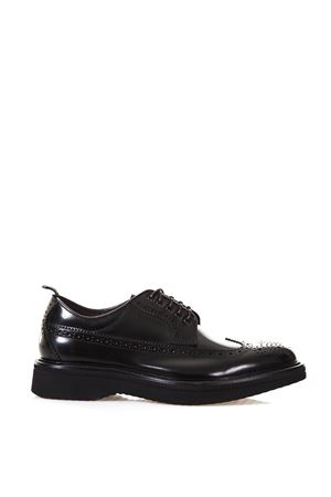 BROGUE POLISHED LEATHER DERBY SHOES FW 2017 GREEN GEORGE | 208 | 2025POLISHEDNERO