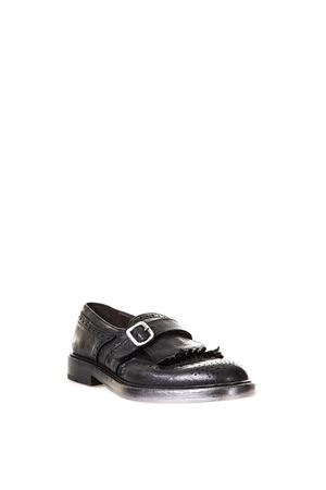 FRINGED LEATHER MONK-STRAP FW 2017 GREEN GEORGE | 130 | 4059RAVELLONERO
