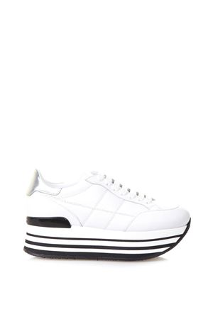 MAXI H222 QUILTED LEATHER SNEAKERS FW 2017 HOGAN | 55 | GYW2830J060GGA0351