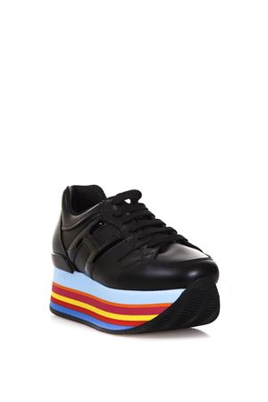 MAXI H222 LEATHER SNEAKERS fw 2017 HOGAN | 55 | HXW2830T543I6SB999