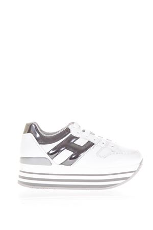 MAXI H222 LEATHER SNEAKERS fw 2017 HOGAN | 55 | HXW2830T548DZF4999