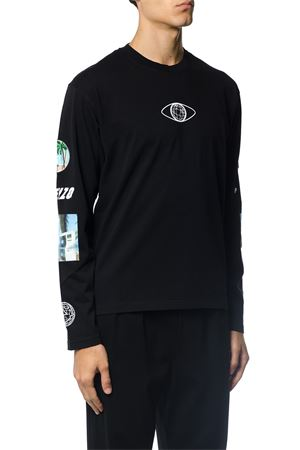 COTTON SWEATSHIRT WITH PRINT AND PATCH ALONG SLEEVES FW 2017 KENZO | 19 | F765TD1184199