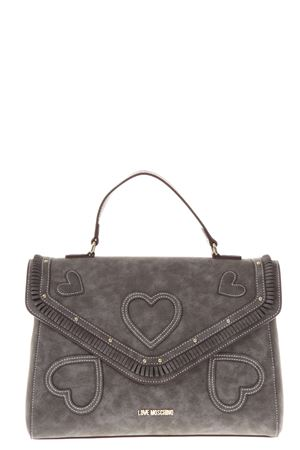 BORSA TOTE HEART IN SUEDE AI 2017 LOVE MOSCHINO | 2 | JC4104PP14UNI001