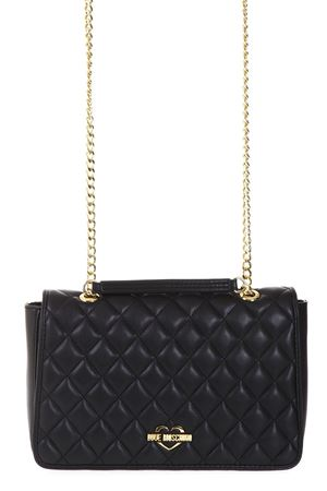 BLACK QUILTED LEATHER SHOULDER BAG FW 2017 LOVE MOSCHINO | 2 | JC4203PP04UNI000