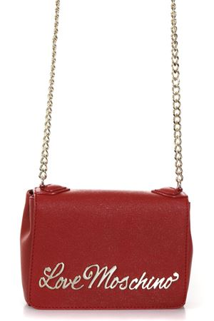 RED FAUX LEATHER SHOULDER BAG WITH LOGO FW 2017 LOVE MOSCHINO | 2 | JC4244PP04UNI500