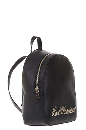 BLACK FAUX LEATHER BACKPACK FW 2017 LOVE MOSCHINO | 183 | JC4246PP04UNI000