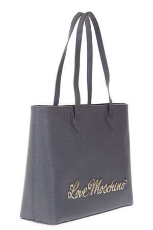 FAUX LEATHER TOTE BAG WITH METAL LOGO  fw 2017 LOVE MOSCHINO | 2 | JC4247PP04UNI001