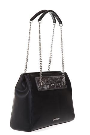 LOGOED FAUX LEATHER SHOULDER BAG AI 2017 LOVE MOSCHINO | 2 | JC4257PP04UNI00C
