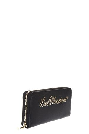 FAUX LEATHER CONTINENTAL WALLET WITH LOGO FW 2017 LOVE MOSCHINO | 34 | JC5552PP04UNI000