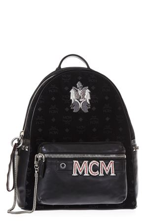 STARK VELVET & LEATHER BACKPACK FW 2017 MCM | 183 | MMK6AVE57BK00111