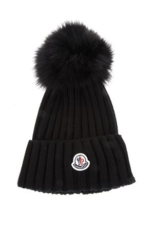 WOOL BEANIE HAT WITH FUR POMPOM fw 2017 MONCLER | 17 | 0021900035101999