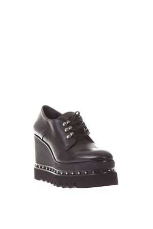 NAPPA HIGH WEDGE LACE UP MOCASSIN FW 2017 RAS | 208 | 8872SMOOTHBLACK