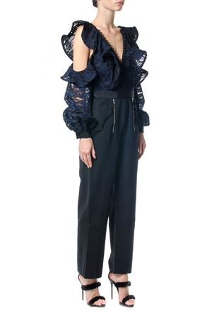 CAMO LACE FRILL JUMPSUIT FW 2017 SELF PORTRAIT | 32 | SP15068JNAVY