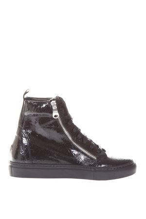 METALLIC LEATHER HIGH-TOP SNEAKERS FW 2017 THoMS NICOLL | 55 | 391KRASTNERO