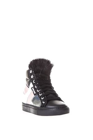 LEATHER HIGH-TOP SNEAKERS FW 2017 THoMS NICOLL | 55 | 432PELLICCIA A