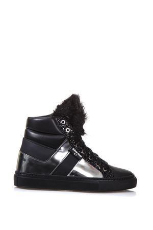 LEATHER HIGH-TOP SNEAKERS FW 2017 THoMS NICOLL | 55 | 432PELLICCIA D