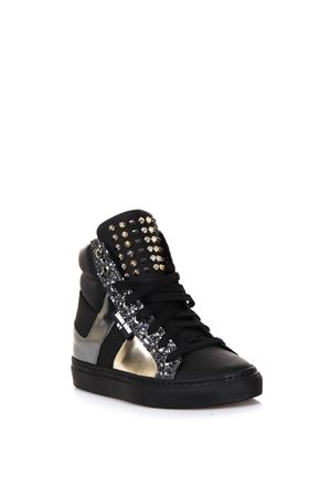 LEATHER HIGH-TOP SNEAKERS WITH GLITTER FW 2017 THoMS NICOLL | 55 | 432VARIANTEC