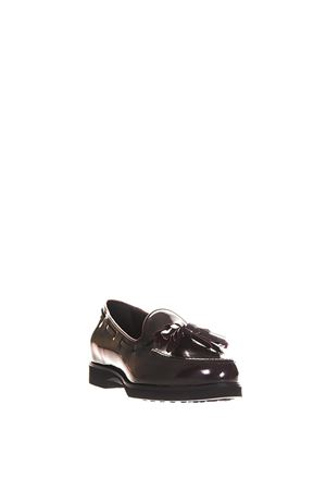 BRUSHED LEATHER LOAFERS WITH TASSEL fw 2017 TOD