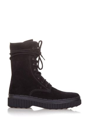 30MM SUEDE COMBAT BOOTS fw 2017 TOD