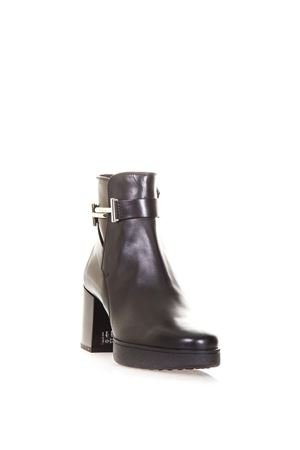 LEATHER ANKLE BOOTS WITH TOD