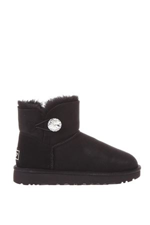 BLACK MINI BAILEY BUTTON BLING BOOTS FW17 UGG AUSTRALIA | 52 | 1016554MINI BAILEYBLACK