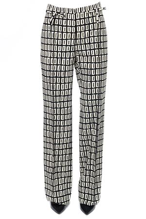 OPTICAL PRINT WOOL TROUSERS FW 2017 VALENTINO | 8 | NB0RB1S53KE0AN