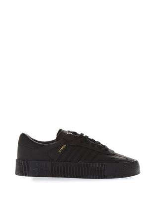 SAMBA BLACK LEATHER SNEAKERS FW 2018 ADIDAS ORIGINALS | 55 | B37067SAMBAROSE WCORE BLACK