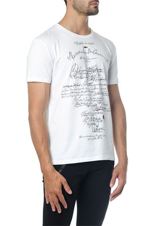 WHITE MANUSCRIPT T-SHIRT IN COTTON FW 2018 ALEXANDER McQUEEN | 15 | 517797QLZ7V0900