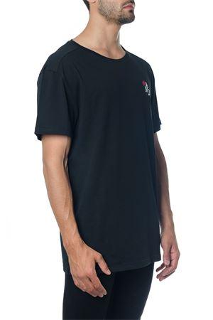 BLACK LOGO COTTON T-SHIRT FW 2018 ALEXANDER McQUEEN | 15 | 520278QLX041000