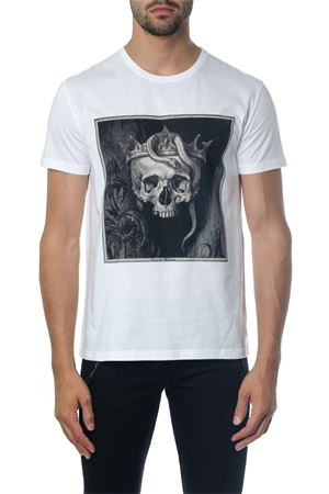 WHITE SKULL T-SHIRT IN COTTON FW 2018 ALEXANDER McQUEEN | 15 | 520304QLZ730900