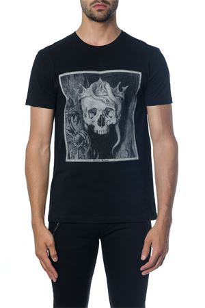 BLACK SKULL T-SHIRT IN COTTON FW 2018 ALEXANDER McQUEEN | 15 | 520304QLZ730901
