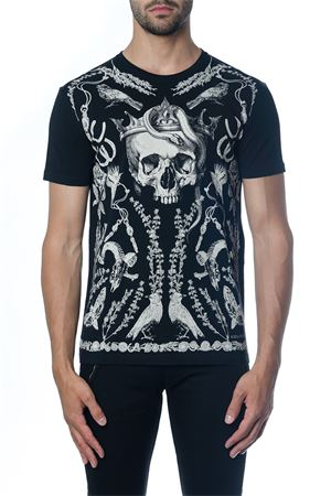 BLACK COTTON T-SHIRT WITH SKULL PRINT FW 2018 ALEXANDER McQUEEN | 15 | 520312QLZ790901