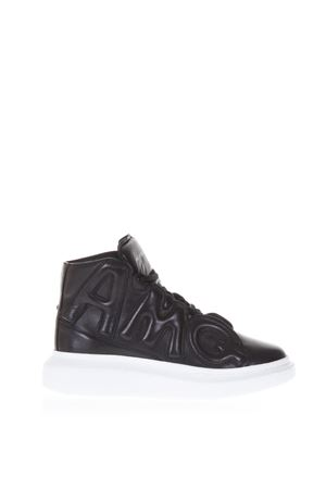 BLACK LEATHER HIGH TOP SNEAKERS FW 2018 ALEXANDER McQUEEN | 55 | 526200WHRU01000