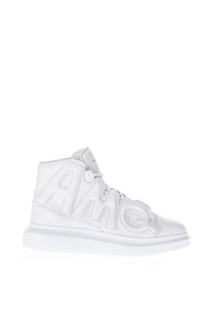 WHITE LEATHER HIGH TOP SNEAKERS FW 2018 ALEXANDER McQUEEN | 55 | 526200WHRU09011