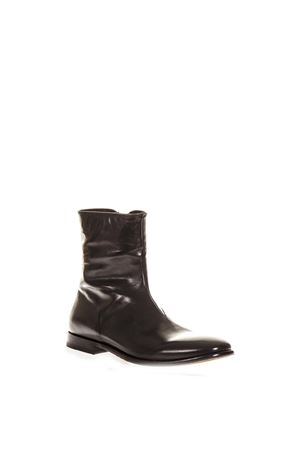 BLACK POLISHED BOOTS IN LEATHER FW 2018 ALEXANDER McQUEEN | 52 | 526258WHT801000