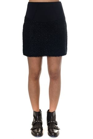 BLACK & NAVY BLEND COTTON SKIRT FW 2018 ALEXANDER WANG | 26 | 1W385047C3FB2506001
