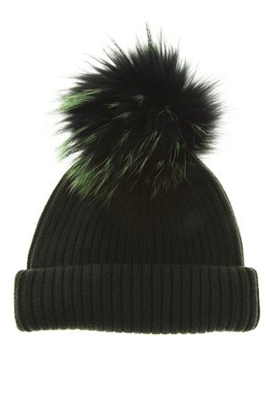 GREEN MERINO WOOL HAT FW 2018 BKLYN | 17 | ARMY GREEN HATBLACK GREEN POM1