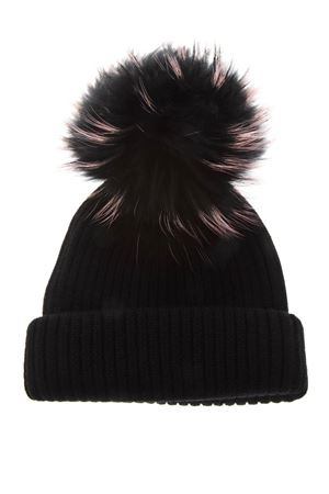 BLACK MERINO WOOL HAT FW 2018 BKLYN | 17 | BLACK HATBLACK BABY PINK POM1