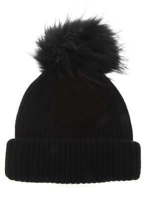 BLACK MERINO WOOL HAT FW 2018 BKLYN | 17 | BLACK HATBLACK POM1