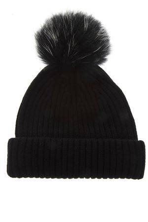 BLACK MERINO WOOL HAT FW 2018 BKLYN | 17 | BLACK HATBLACK WHITE POM1