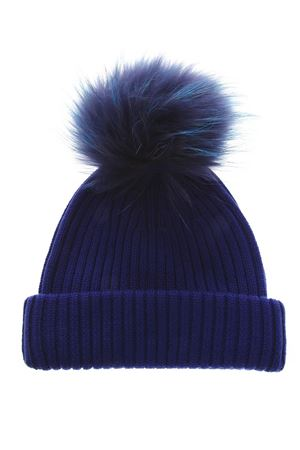 BLUE MERINO WOOL HAT FW 2018 BKLYN | 17 | ELEC BLUE HATBLUE TIFFANY POM1