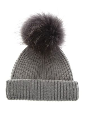 GREY MERINO WOOL HAT FW 2018 BKLYN | 17 | LIGHT GREY HATMID GREY POM1