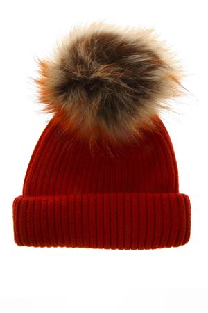 RED MERINO WOOL HAT FW 2018 BKLYN | 17 | ORANGE HATTIGER POM1